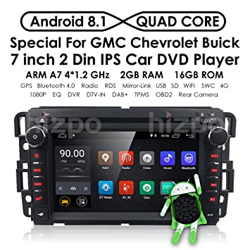 Amazon.com: Android 8.1 Car Stereo for Chevy Silverado GMC Sierra Acadia Yukon with DVD Player, GPS, WiFi, Support Android Auto, Backup Camera, ...