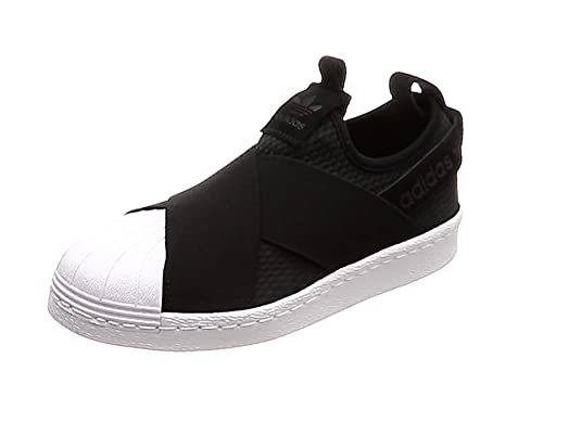 adidas Superstar Slip On W, Scarpe da Ginnastica Donna, Nero Core Black/Ftwr