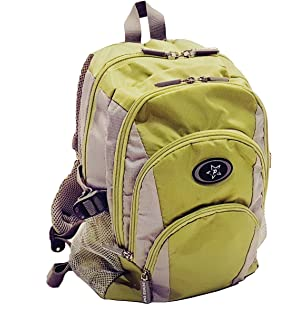 Toddler kids school backpack 9 pockets multi-device, light weight, Blue, Green