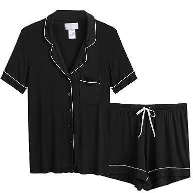 ce79584149 AChili Women's Pajamas Short Set Loungewear Short Sleeve Sleepwear ...