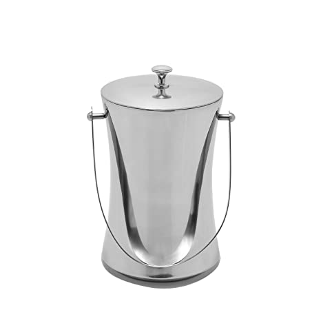 colleta home ice bucket for parties insulated with lid stainless