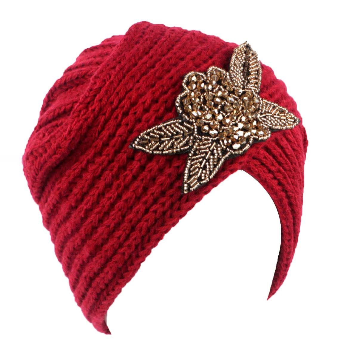 DUYANGANG Frauen Beanie Damen Winter Warm Knit Häkeln Ski Hut ...