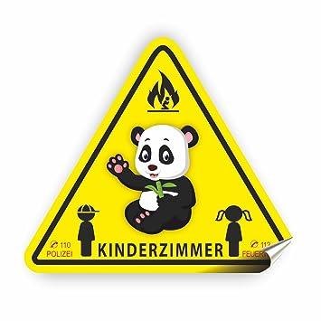 Aufkleber Kinderzimmer Zur Sicherheit Im Einem Brandfall