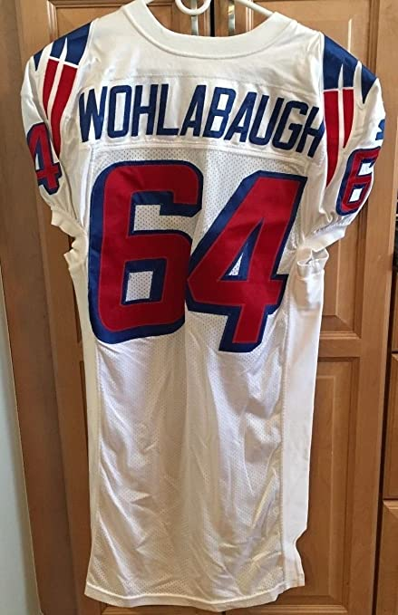 1995 98 Dave Wolhabaugh Game Worn New England Patriots Home Jersey