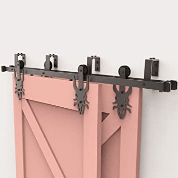HOMAG - Kit de herramientas para puerta corredera de garaje, armario, puerta interior y exterior, color negro rústico: Amazon.es: Bricolaje y herramientas