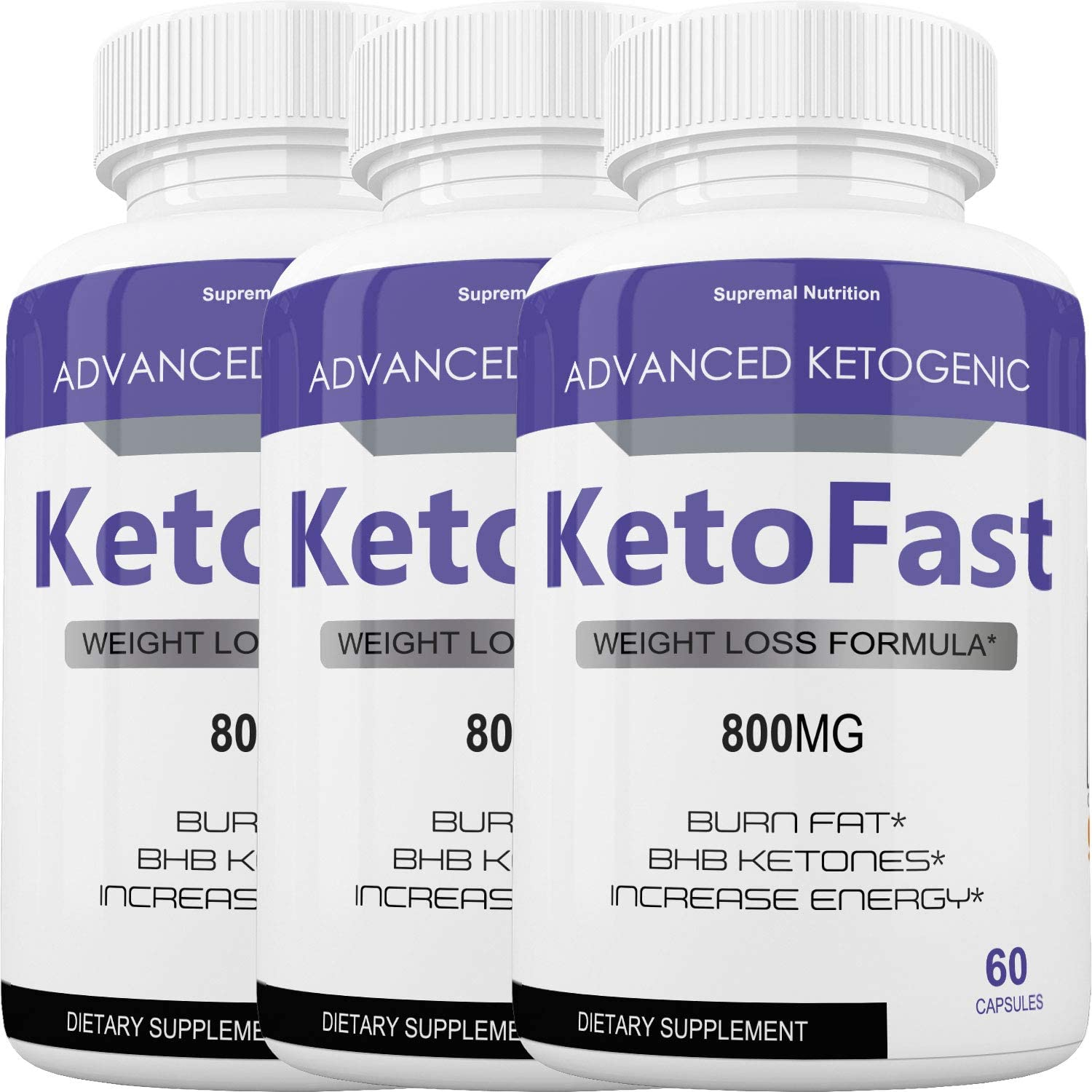 Keto Fast Diet Pills - Advanced Ketogenic Weight Loss Burn KetoFast - Burn Stubborn Fat - Energy & Focus - Suppress Appetite - Ketosis Booster - 700+100 mg (3 Month Supply)