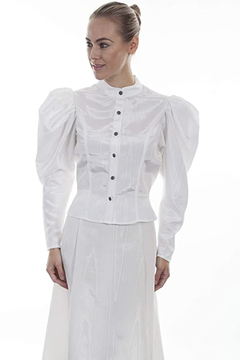 Victorian Clothing, Costumes & 1800s Fashion Scully Wahmaker Womens Classic Old West Blouse - 738809-Nat $66.24 AT vintagedancer.com