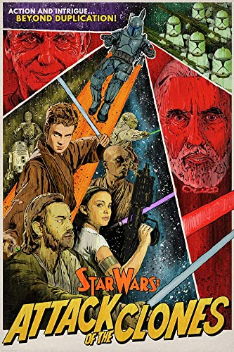 STAR WARS Attack of Clones Limited Edition Exclusive Lithograph fine art print