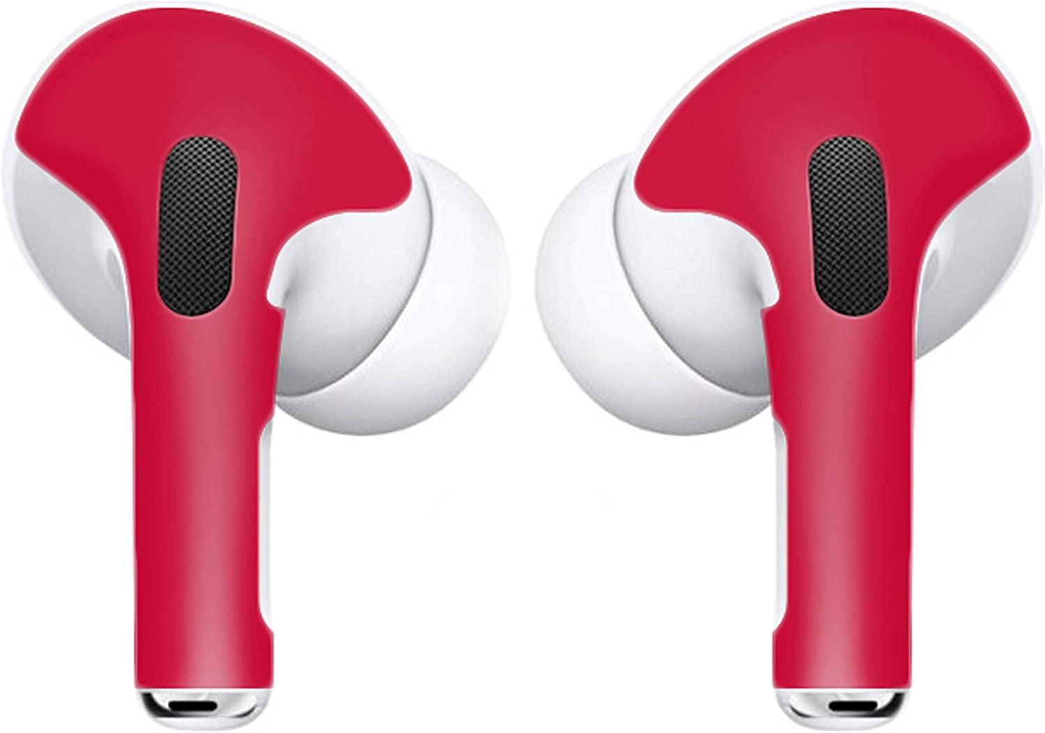 APSkin Skins for Apple AirPod Pro – Vinyl Protective Wraps Stickers Cover Earpods – Air Pods & Ear Pod Compatible Decal for Protection & Customization – Air Pod Pro Accessories – (Red)
