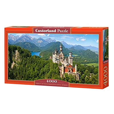 Puzzle Viev of The Neuschwanstein Castle, Germany 4000 Pieces: Toys & Games