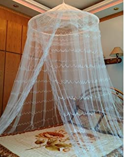 Round Hoop Decorative Lace Princess Bed Canopies Mosquito Net Fit For Crib Twin Beds White & Amazon.com: GoProtect® MOSQUITO NET BED CANOPY | 2 Openings ...