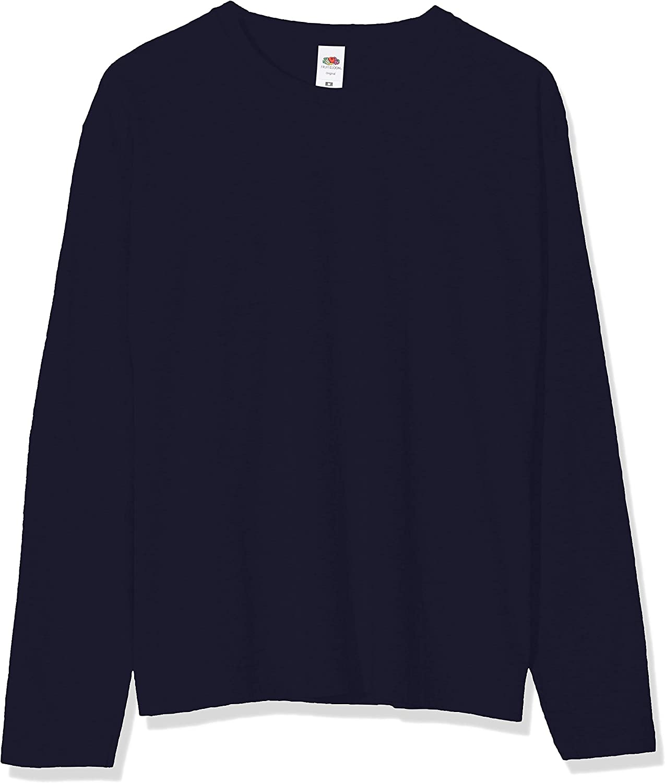 Original Long Sleeved Tee Fruit of the Loom T-Shirt Uomo 3 Pack