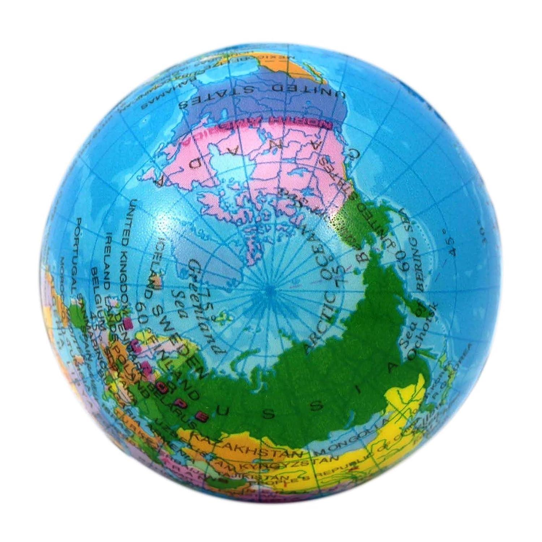 VANKER del globo del mundo Bola de la tensión de espuma terapia de la mano del apretón de Alivio de la bola del juguete