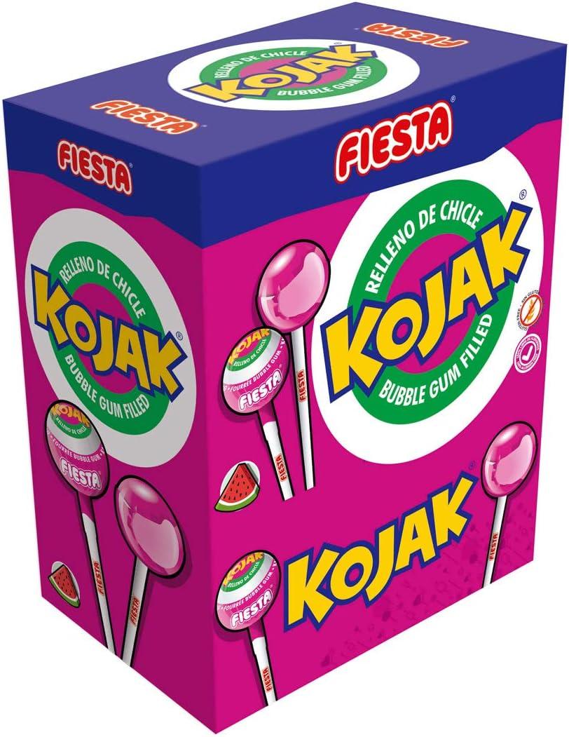 FIESTA Kojak Caramelo con Palo Sabor Helado de Fresa Relleno de ...