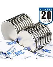 "Powerful Disc Neodymium Magnets (20 Pack) - 1.26""D x 0.08""H"