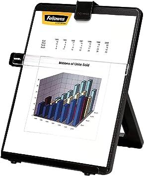 Fellowes Konzepthalter Workstation Höhenverstellbares Zeilenlineal Vorlagenhalter Für Bis Zu 125 Blatt A4 Bürobedarf Schreibwaren
