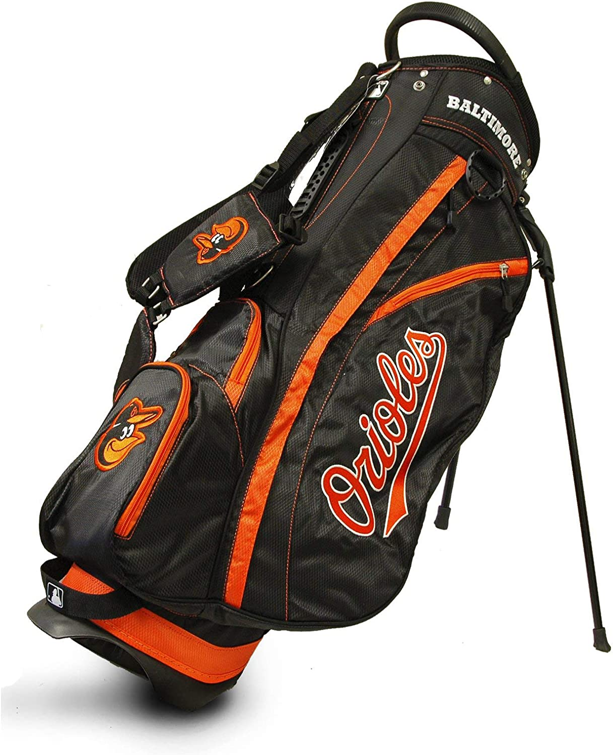 Team Golf MLB Baltimore Orioles Fairway Golf Stand Bag, Lightweight, 14-way Top, Spring Action Stand, Insulated Cooler Pocket, Padded Strap, Umbrella Holder & Removable Rain Hood : Sports Fan Golf Club Bags : Sports & Outdoors