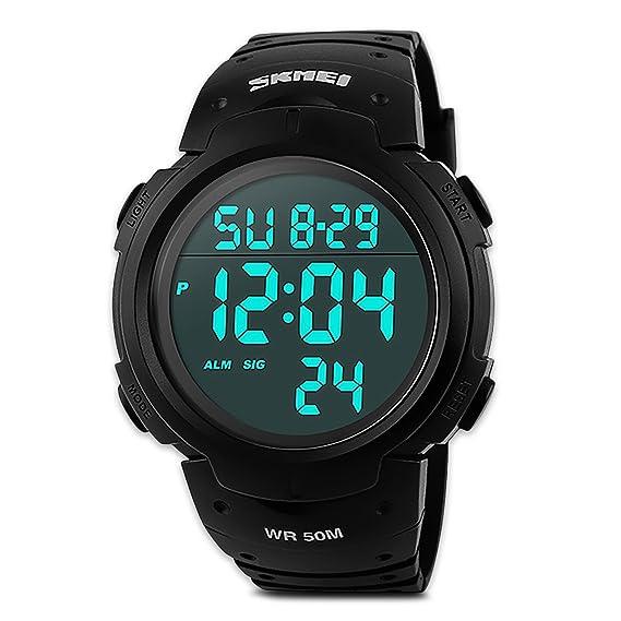 68decc4e4791 Reloj Deportivo Digital Electrónico de Hombre con Pantalla LED ...