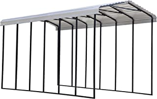product image for Arrow Shed 14' x 29' x 14' 29-Gauge Metal RV Carport and Multi-Use Shelter for Large Vehicles, 14' x 29' x 14', Eggshell