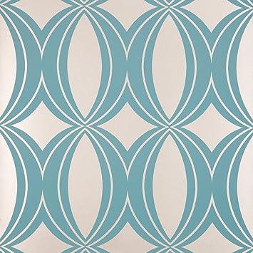Harlequin Home Indulgence Verve Papier Peint Motif Bleu Et Dore