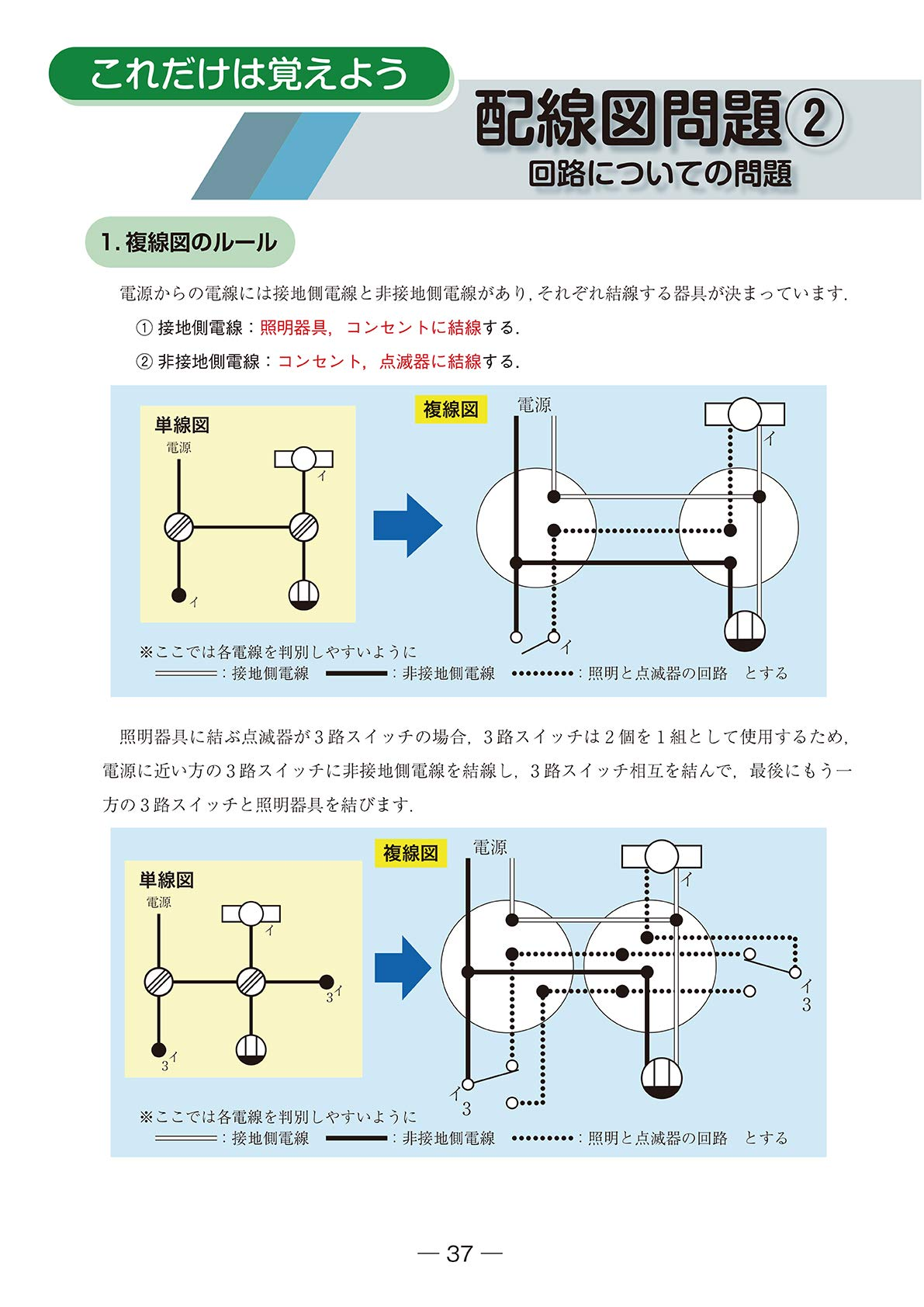 路 図 三 スイッチ 結線