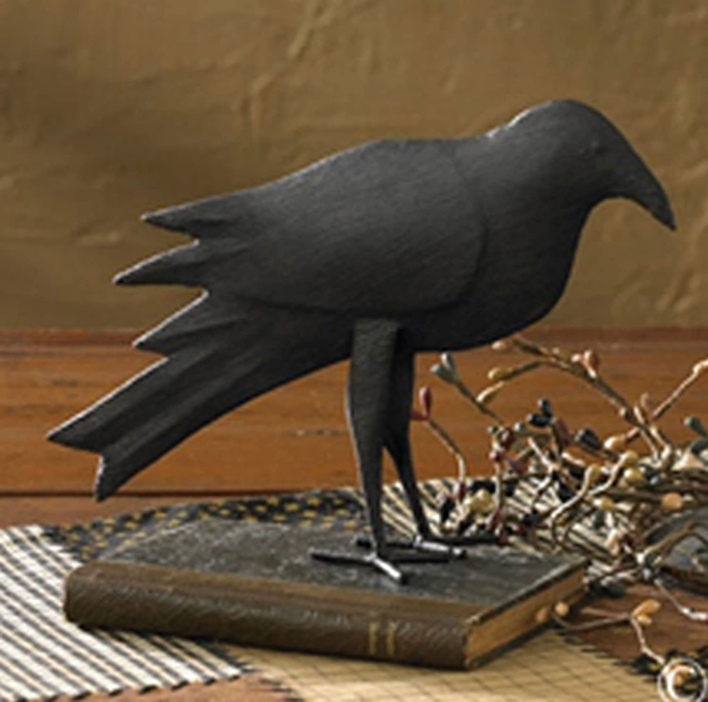 Iron metal crow decoration decorative sculpture