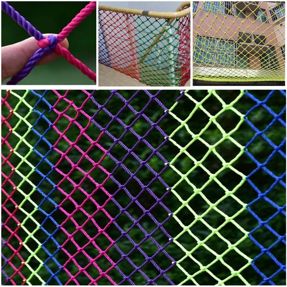 カラーセーフティネット、屋外トレーニング開発保護ネット幼稚園アンチフォールネット子供バルコニー保護ネット(6mm / 6cm) (Size : 1*10)  1*10