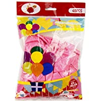 "Rosymoment 12"" Solid Metallic Latex Pink Color Balloons (Pack Of 40 ),2724650183552"