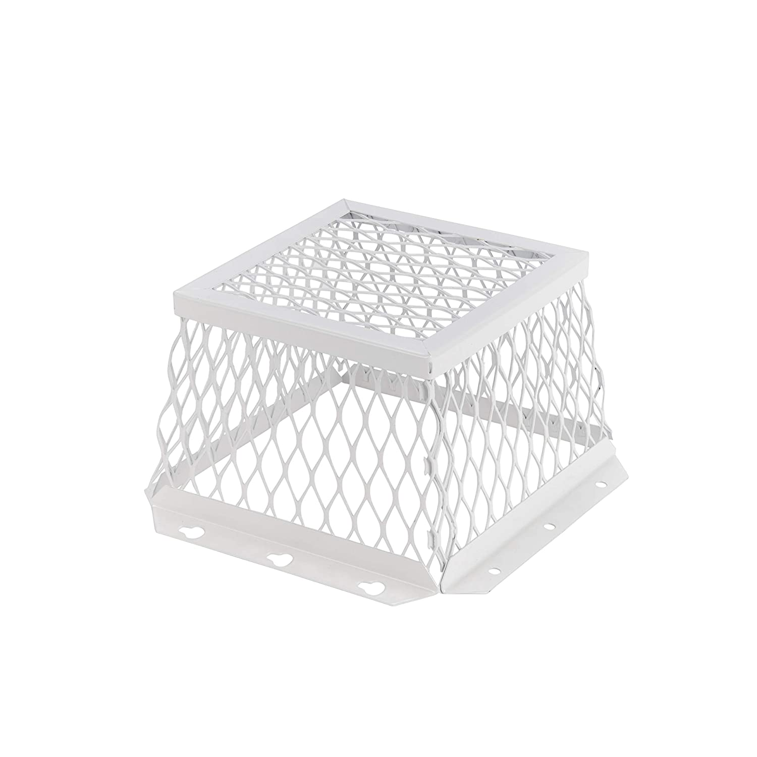 """HY-C RVG-DVG Stainless Steel Universal VentGuard, 100% 304 Stainless Steel Mesh, Easy Installation, 7"""" L x 7"""" W x 5"""" H, White Powder Coat Finish"""