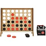 Uber Games Giant 4 in a Row - 3 feet wide x 2.5 feet tall - 3 inch coins red and black