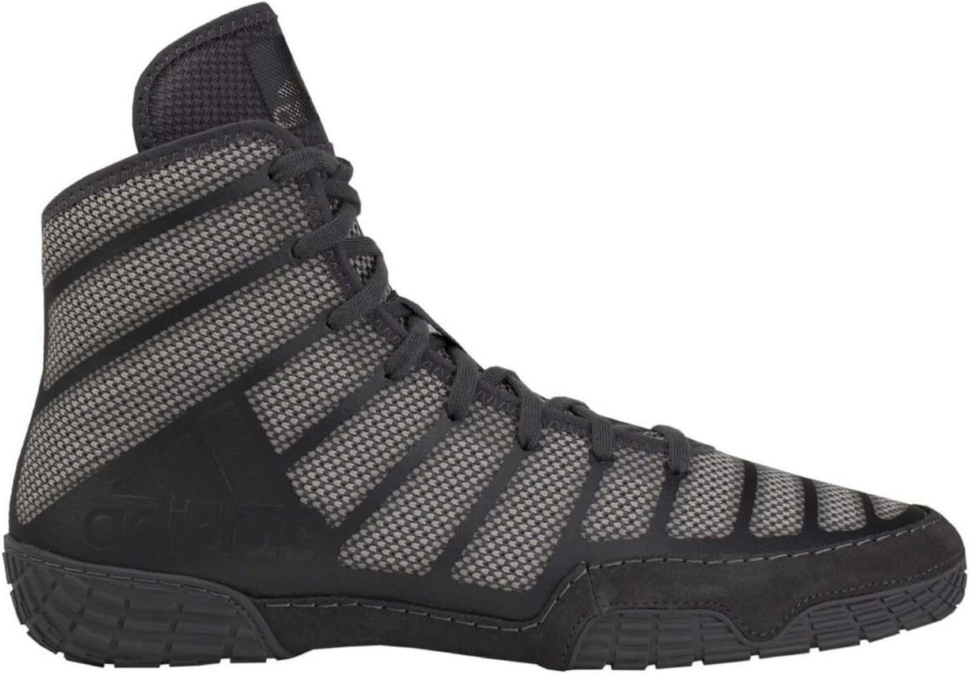 adidas Adizero Varner Black Grey Wrestling Shoes (AC7497)