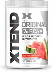 XTEND Original BCAA Powder Watermelon Explosion - Sugar Free Post Workout Muscle Recovery Drink with Amino Acids - 7g BCAAs f