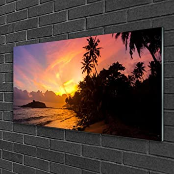Tulup Glasbilder Wandbild Dekobild 100x50 Watter Kunst