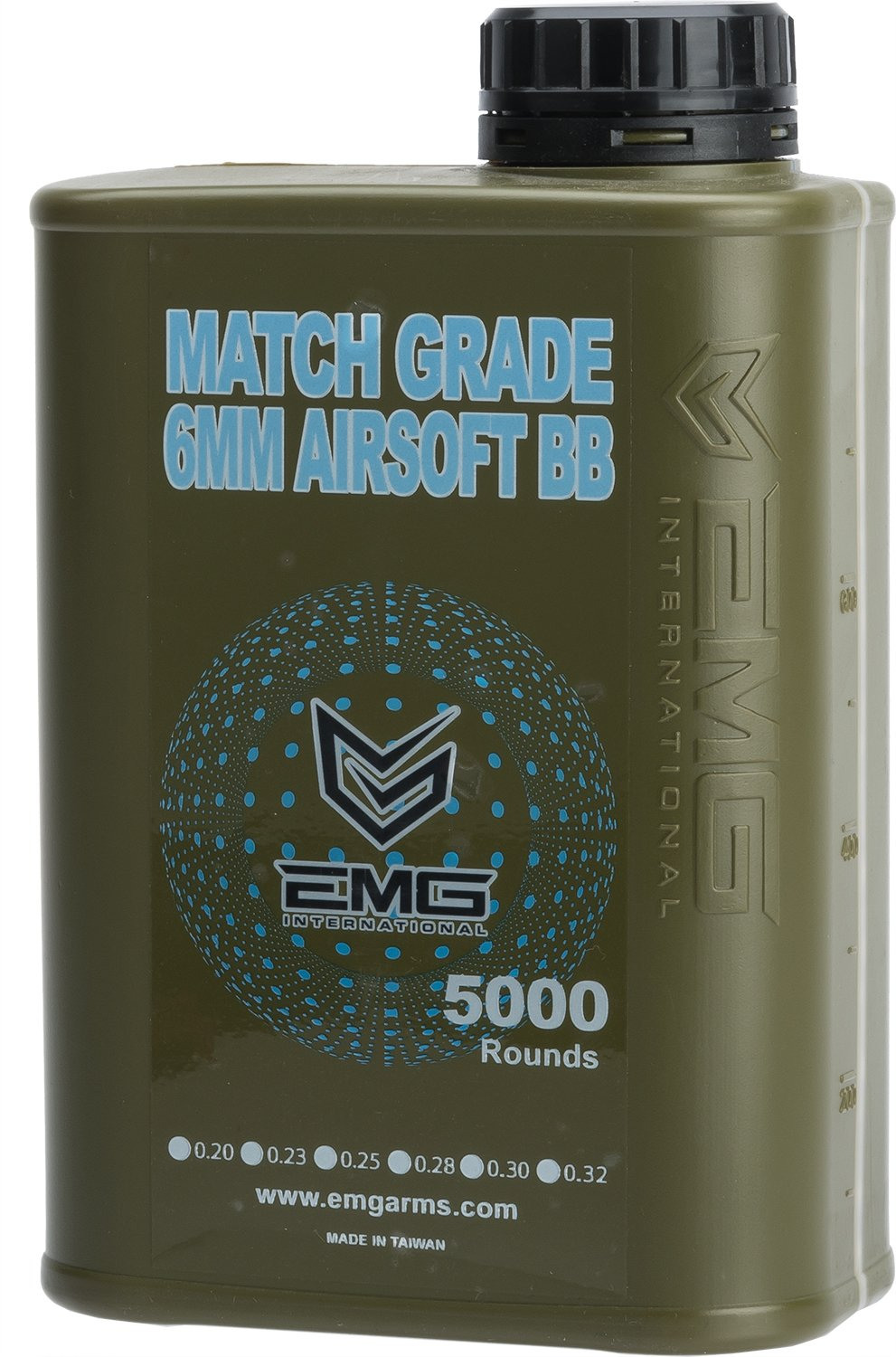 Evike - EMG International Match Grade 6mm Airsoft BBS - 5000 Rounds (Weight: .20g)
