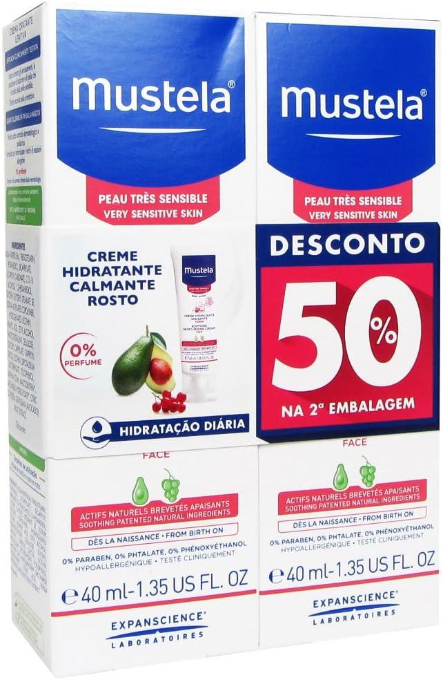Mustela Pack Crema Hidratante Calmante De La Cara 2x40ml: Amazon.es: Belleza
