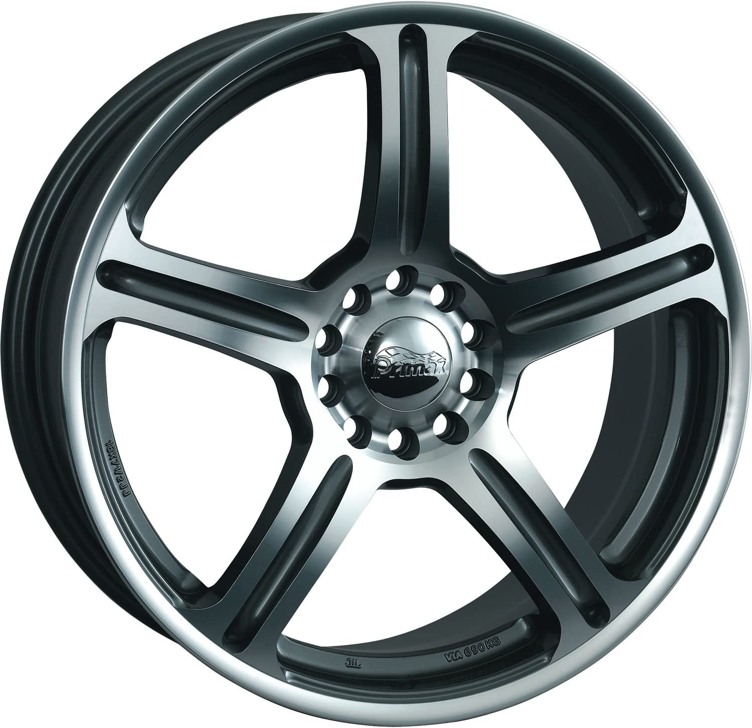 Primax 772 Wheel with Machined 16 x 7. inches //5 x 112 mm, 38 mm Offset