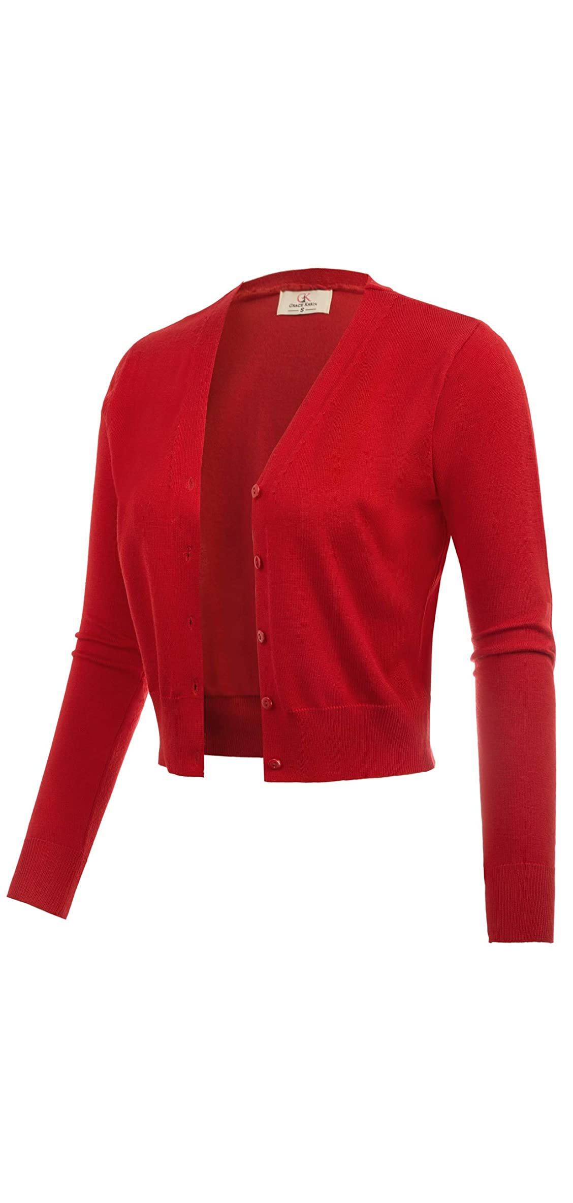 Women's Open Front Knit Cropped Bolero Shrug Sweater