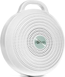 Yogasleep Rohm Portable White Noise Machine for Travel, 3 Soothing, Natural Sounds with Volume Control, Compact Sleep Therapy for Adults & Baby, USB Rechargeable, Lanyard for Easy Hanging
