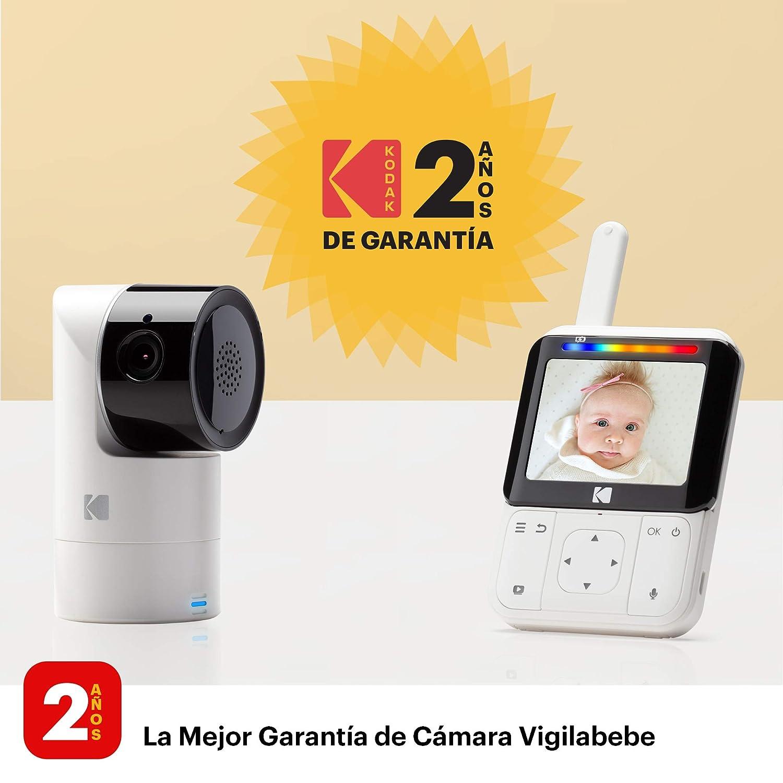 zoom visi/ón nocturna infrarrojos y conversaci/ón bidireccional KODAK CHERISH C225 /— C/ámara Vigilabebe de alta definici/ón con WiFi y App m/óvil monitor de 2.8 pulgadas