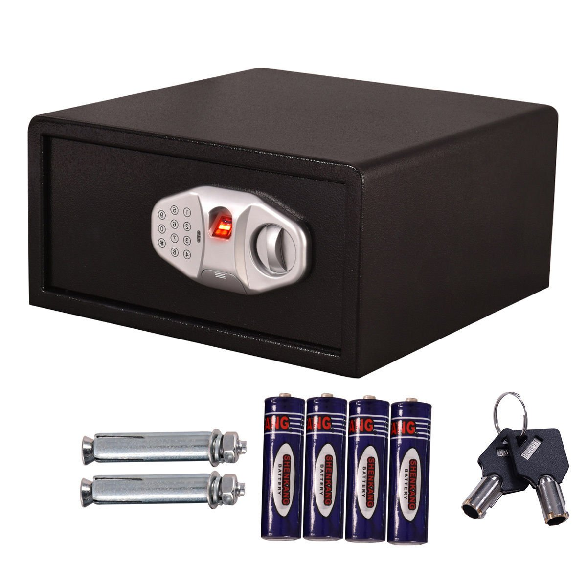 Safstar Security Safe Biometric Fingerprint Electronic Digital Keypad Lock Wall Cabinet for Money Gun Jewelry(FS Style: 15.7'' x 15.7'' x 7.8)
