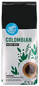 Amazon Brand - Happy Belly Colombian Ground Coffee, Medium Roast, 32 Ounce