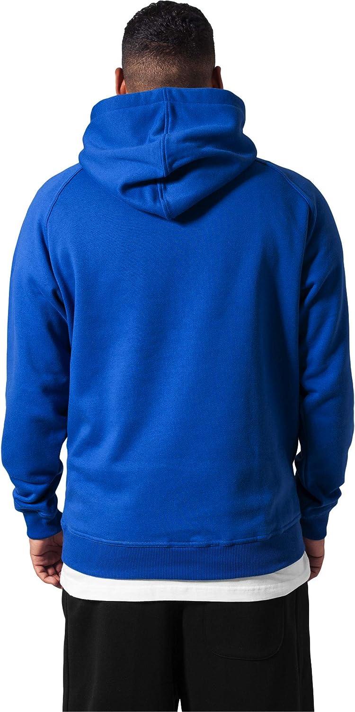 Urban Classics Blank Hoodie Sweatshirt mit Kapuze für Herren Königsblau