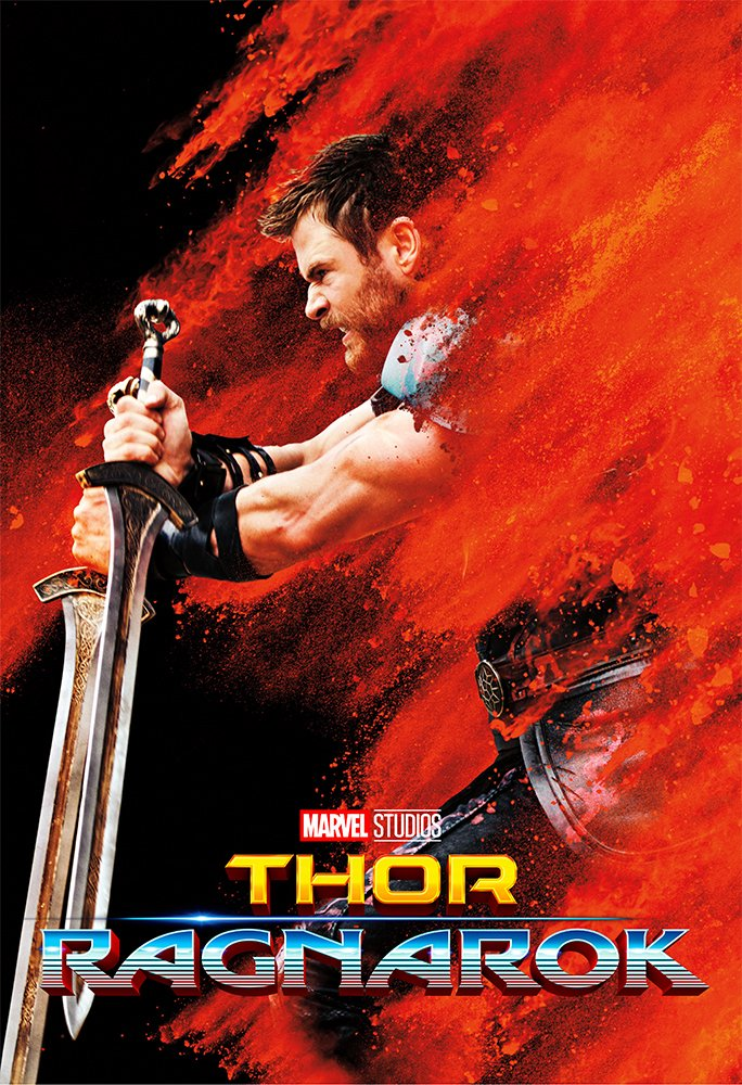 Thor 3 : Ragnarok (2017) - Thor Sword - 13 in x 19 in Movie Poster Flyer BORDERLESS + Free 1 Tile Magnet