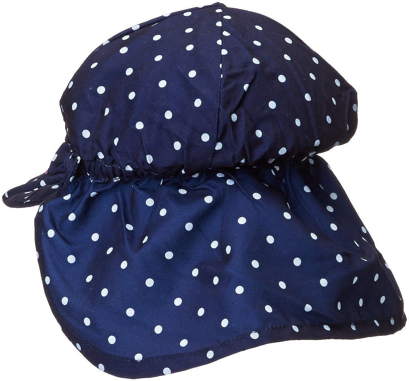 e78e505aa6944 Amazon.com: Jojo Maman Bebe Baby Girls' Girls' Flap Hat, Navy White Dot, 0  6 Months: Clothing