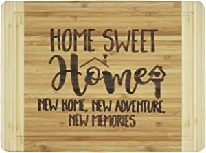 Housewarming Gifts,Engraved Cutting Board - New Home Owner Gifts,For Sisters,Friends,Daughter,Son,Boss gift-Sweet Home, New Home.