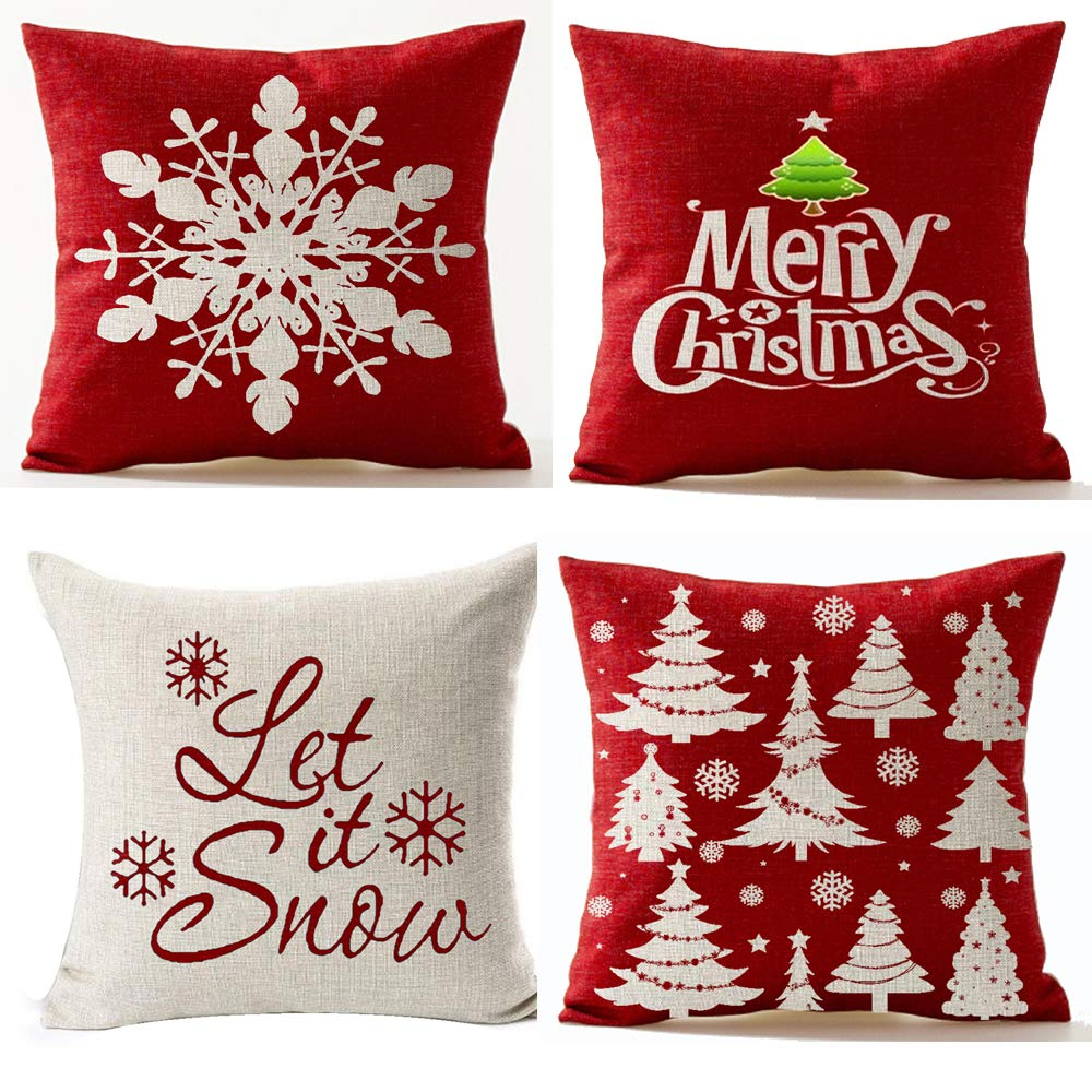 Decorative Throw Pillow Cover Cushion Case for Home Sofa Square 18 Inches