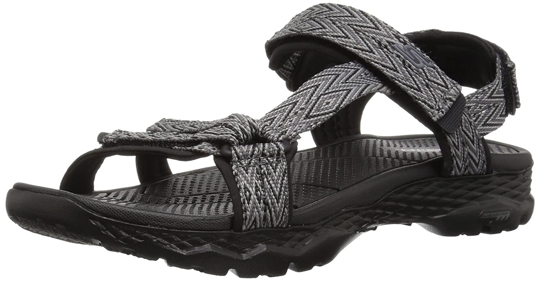Skechers Women's Go Walk Outdoors-Runyon Sport Sandal B072T4RJY9 9 B(M) US|Black/Gray