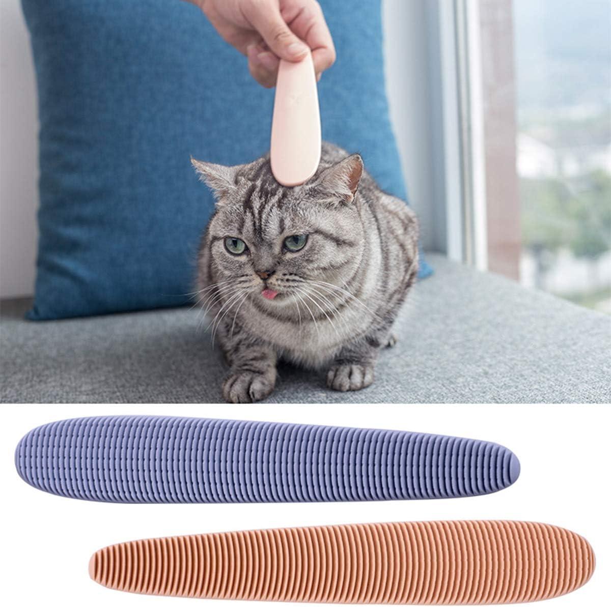 Ruiqas Peine de Pelo de Gato Mascota Peine de Masaje de Lengua de Gato Herramienta de Cuidado Diario Port/átil para Gato Gatito Gris