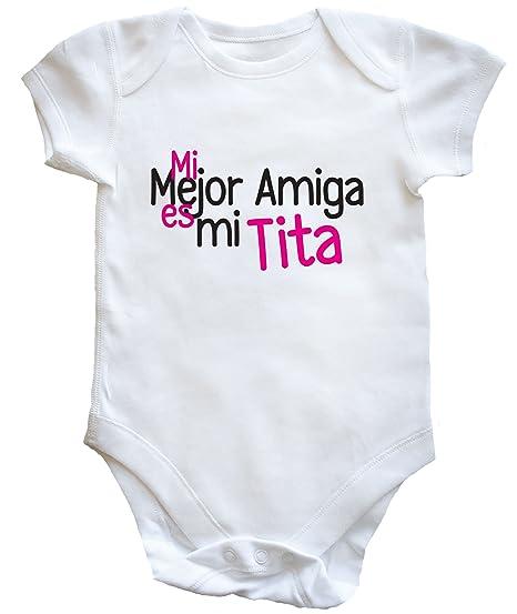 HippoWarehouse Mi Mejor Amiga es mi Tita body bodys pijama niños niñas unisex: Amazon.es: Ropa y accesorios