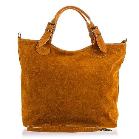 Bolso shopping bag de mujer piel auténtica.Bolso mujer de cuero genuino d49d0d2199eb